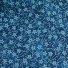 100% Cotton Teal Flower Print Fabric x 0.5m